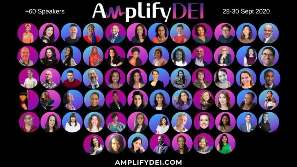 Amplify DEI 60+ Speakers diversiteit inclusiviteit racisme discriminatie