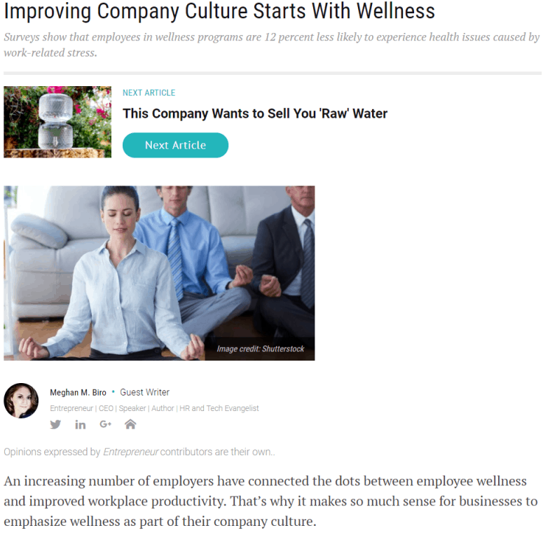 Entrepreneur - Improving Company Culture Starts With Wellness, Vivian Acquah, Linked4Energy